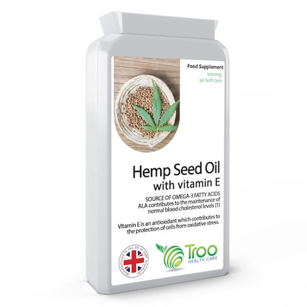 Picture of Hemp Seed Oil 1000mg 90 Capsules