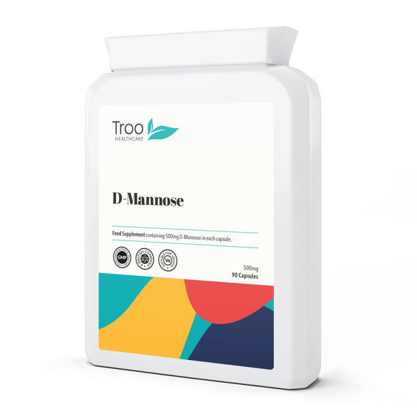 Picture of D-Mannose 500mg 90 Capsules