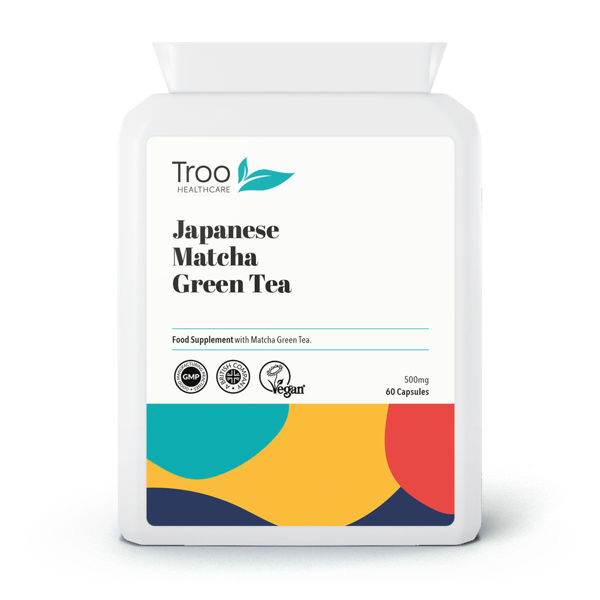 Picture of Japanese Matcha Green Tea 500mg 60 Capsules