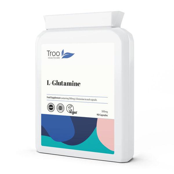 Picture of L-Glutamine 500mg 90 Capsules