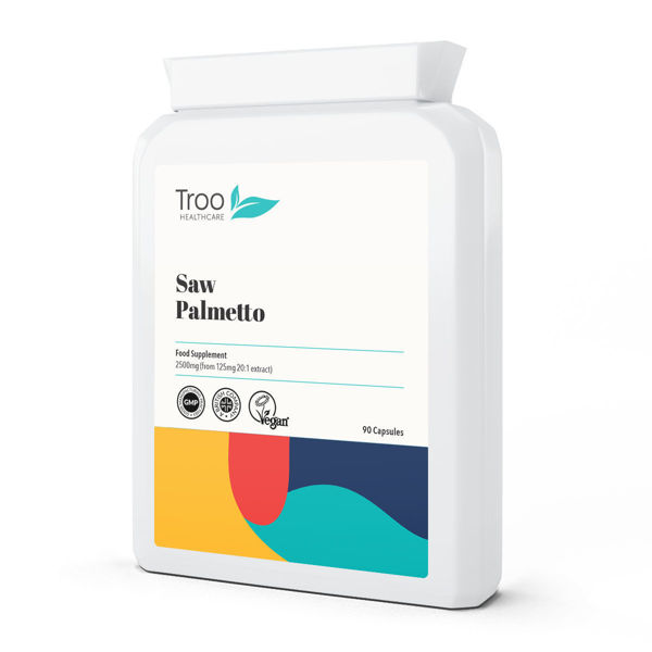 Picture of Saw Palmetto 2500mg from 125mg 20:1 Extract 90 Capsules