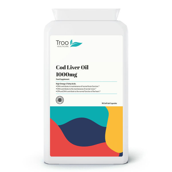 Picture of Cod Liver Oil 1000mg 90 Softgel Capsules