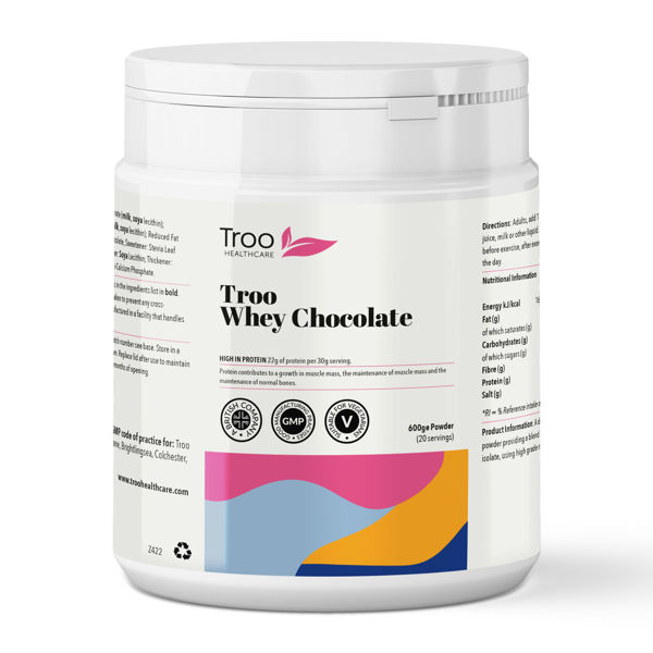 Picture of Troo Whey Protein Powder 600g - Chocolate