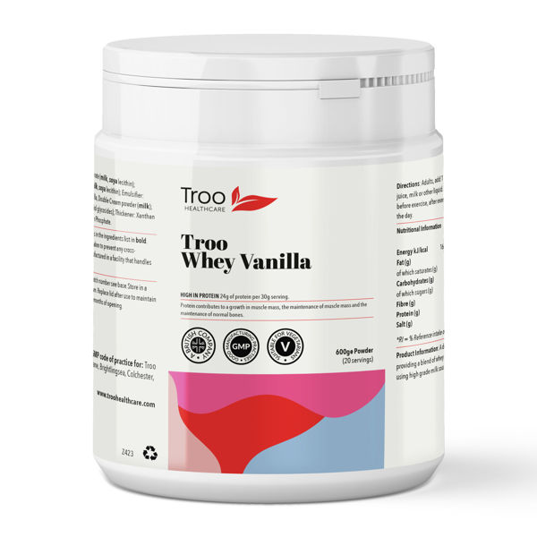 Picture of Troo Whey Protein Powder 600g - Vanilla