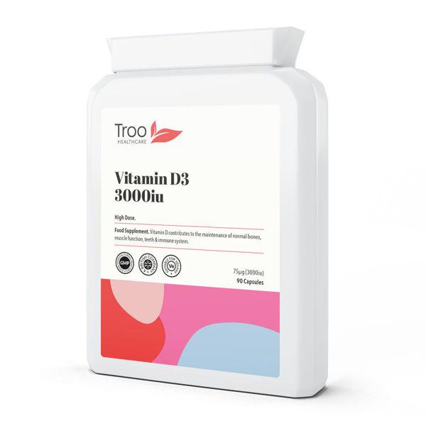 Picture of Vitamin D3 3000iu 90 Vegan Capsules